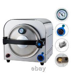 900w Laboratoire Dentaire Autoclave Steam Sterilizer Machine De Stérilisation Médicale 14l
