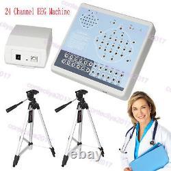 Ce Digital 24 Channel Eeg&mapping System Machine Kt88-2400, Logiciel Pc, 2 Trépieds