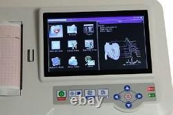 Ce Tactile Ecg Ecg Machine Électrocardiographe 6 Canaux 12 Imprimante Plomb Analisys