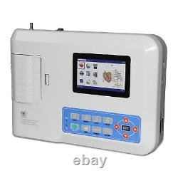 Contec 3 Canaux 12 Lead Couleur Ecg Ekg Machine W Pc Logiciel Électrocardiographe