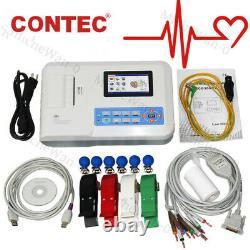 Contec Ecg300g Digital 3 Channel 12 Lead Electrocardiographe Ekg Machine+ Pc Sw