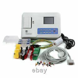 Contec Ecg300g Électrocardiographe Numérique À 3 Canaux 12-lead Ecg +pc Sw