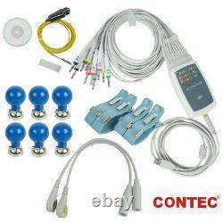 Contec8000g Pc Basé Ecg Workstation 12-lead Ekg Machine Logiciel Usb Analasis