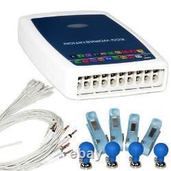 Contec8000g12 Plomb Au Repos Ecg / Ekg Système Workstation Machine Recorder + Logiciel