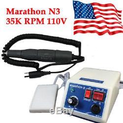 Dentaire Électrique Micromoteur Marathon Machine À Polir + Lab RPM Handpiece 35000