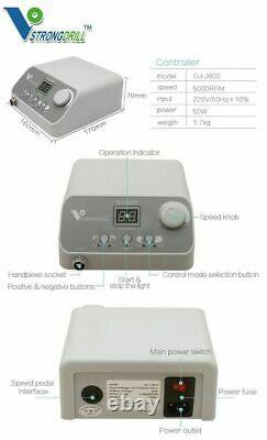 Dental Lab Brushless Micro Motor Polisher Polisseur Machine Avec 50k RPM Handpiece