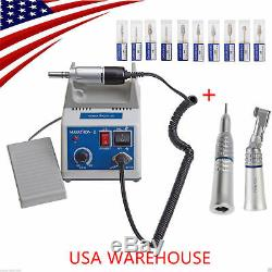 Dental Lab Micromoteur Marathon Machine N3 + 35k RPM + Handpiece 10polishing Burs