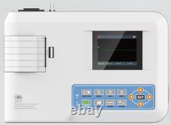 Digital 1 Canal 12-lead Ecg/ekg Machine Couleur Imprimante Électrocardiographe Ce