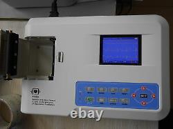 Digital 3 Canaux 12 Électrocardiographe Plomb Ecg Électrocardiographe + Logiciel Vendeur Us