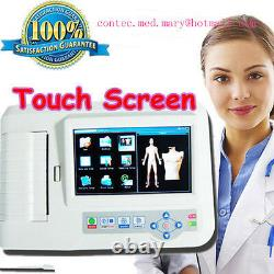 Digital 6 Channel 12 Lead Ecg/ekg +software Electrocardiographe Touch Ce