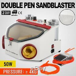 Double Pen Sableuse Double-stylo Sablage Polisseuse + Lampe De Laboratoire Dentaire