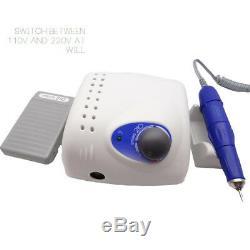 Drill Laboratoire Dentaire Électrique Micro Moteur Handpiece 35krpm Machine + 30 Burs 2.35mm