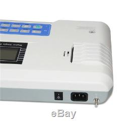 Ecg LCD Machine Électrocardiographe 1 Canal Ecg Moniteur 12 Dérivations Imprimante