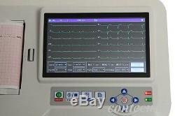 Ecg600g 6 Canaux 12-plomb Numérique De Cardiologie Ecg Ecg Machine + Logiciel Pc Contec