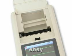 Ecg90a Electrocardiographe Portatif 12-lead Ecg/ekg Machine Pc Software USA Nouveau