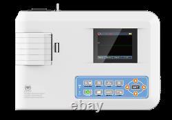 Electrocardiographe Digital Monocanal 12-lead Ecg/ekg Machine Imprimante Us Fda