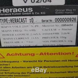 Heracast Heracast Qi Compact Dental Lab À Induction Coulée Banc-machine