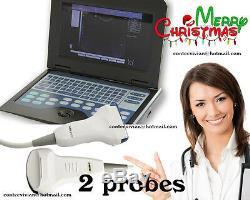 Machine À Système De Scanner À Ultrasons Numérique Portable Portable + Convexe + 2 Sondes Linéaires