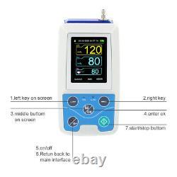 Moniteur De Pression Artérielle Ambulatoire Nibp Upper Arm Machine Numérique, 24h Record+sw