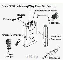 Moteur Dentaire Portable Mini Micro Brushless Rectifieuse Machine 50000rpm