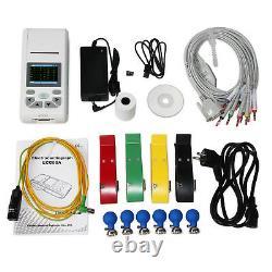 Nouveau Contec Ecg90a 12 Lead Ecg Machine Electrocardiograph Touch+software, Imprimante
