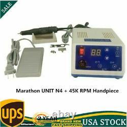 Nouvelle Unité Marathon N4 + 45k RPM Micromotor Handpiece Dental Lab Polising Machine