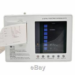 Portable Électrocardiographe Numérique 3 Canaux 12 Ecg Ecg Machine Plomb