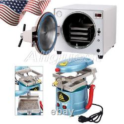 USA Dental 18l Autoclaves Vapeur Stérilisateur / Formage Sous Vide Machine De Moulage