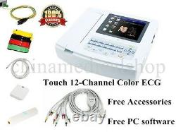 USA Digital 12-lead Ecg/ekg Machine 12 Canaux Électrocardiographe Ecran Tactile