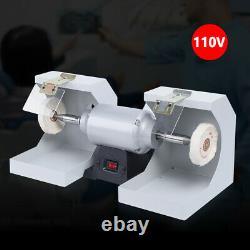 Us Dental Lab Polissant La Machine 110v Bijoux Buffing Grinder Dual-lathe 550w Nouveau