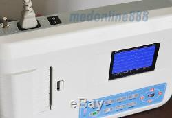Us Vendeur Numérique 3 Canaux 12 Plomb Machine Ecg / Logiciel Électrocardiographe +