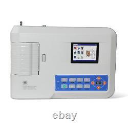 Vendeur Américain, Portable Ecg/ekg Machine Digital 3 Channels 12 Lead Electrocardiographe