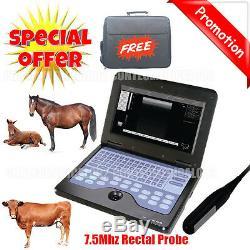 Vet Machine Echographe Portable Vétérinaire Pour Cowithhorse / Animal, Rectale