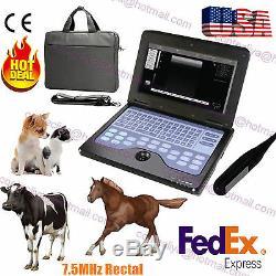 Vet Vétérinaire Portable Machine Echographe Pour Cowithhorse / Animal, Rectale